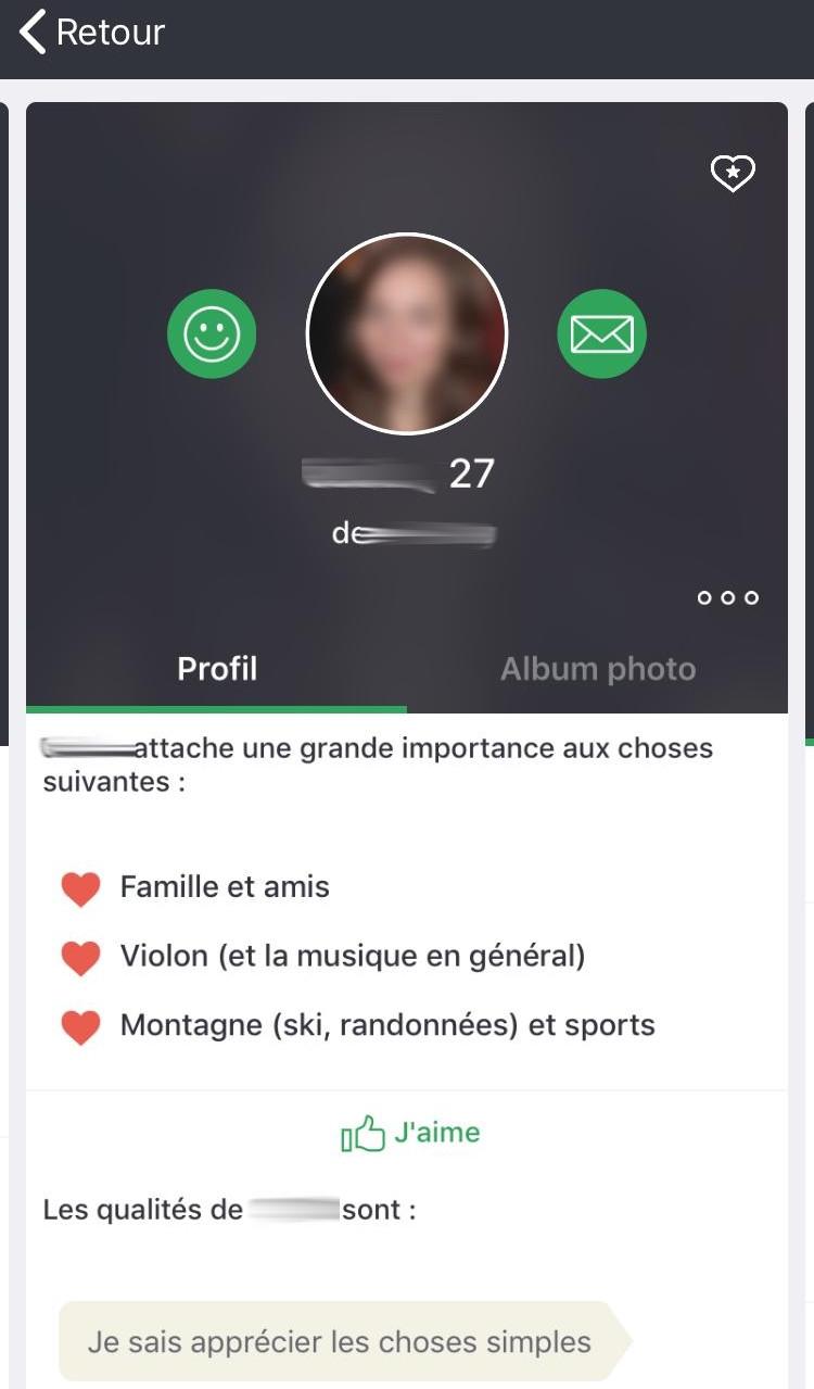 Profil sous mobile
