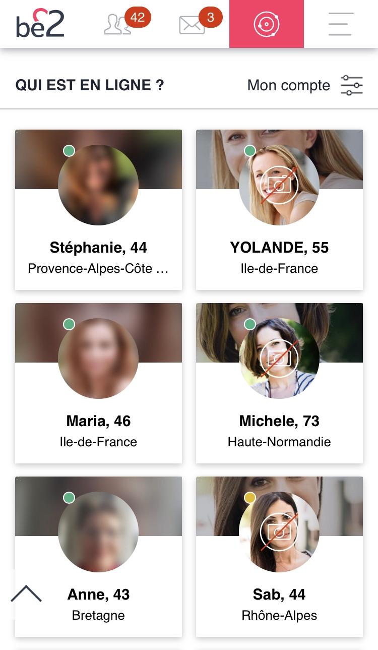 Be2 - Mobile - Qui est en ligne