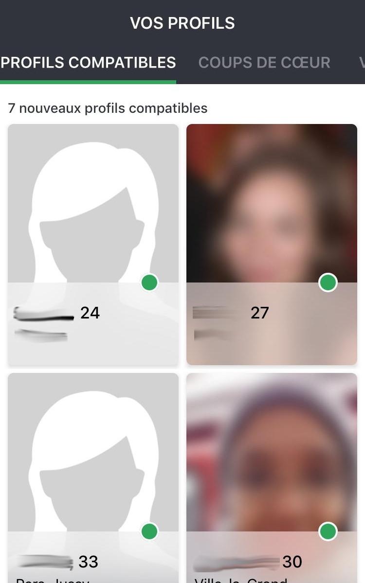 Profils compatibles sous mobile