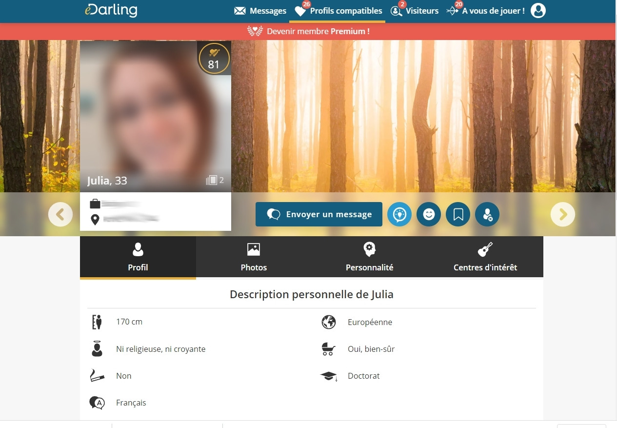 edarling - profil